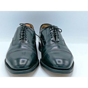 Johnston & Murphy Black Leather Mens Oxfords Sz 9M